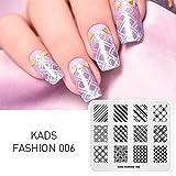 KADS ネイルスタンププレート ネイルステンシル ネイルイメージプレート ファッションスタイル (FA006)