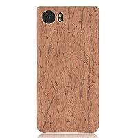 Blackberry Keyone 携帯ケース 木の穀物 保護シェル 合皮 TPU 素材 PU レザーケース クロコダイル - ベージュ