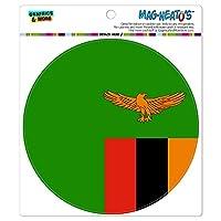 ザンビア国立国旗 - サークル MAG-格好いい'S(TM)カー/冷蔵庫マグネット