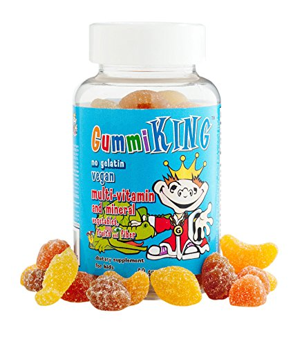 King, Multi-Vitamin and Mineral, Vegetables, Fruits and Fiber, For Kids, 60 Gummies