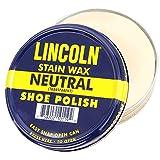 [POLARIS] 【新色入荷! 全13色】 LINCOLN シューポリッシュ 天然カルナバワックス使用 靴 ワックス アメリカ製 石油由来成分不使用 (ニュートラル)