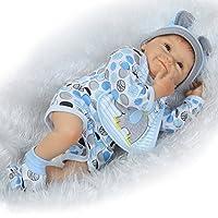 Pursue Baby Lifelike Realistic Rebornベビー面白いEllen、目を開き布ボディフルPoseable人形22インチ/ 55 cm
