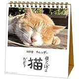 アクティブコーポレーション 2019年 猫 カレンダー 卓上 日なたぼっこ猫だより ACL-539 (2019年 1月始まり)