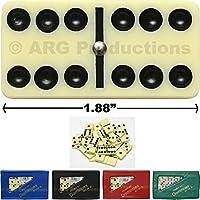 Double 6 Dominoes Dominoのセット28アイボリータイル新しいケースグリーンブラックレッドブルー誕生日クリスマスギフト