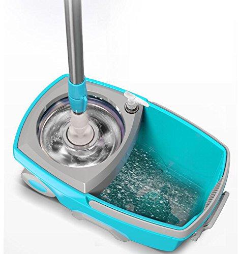 回転モップ トルネード回転モップ  モップ掃除セット 水切り・洗浄 ダブル回転モップ 手回し回転モップ(替えモップ1個付き)