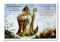 フランス製 【クリスマス】 キャットポストカード (Decembre-Chat Nicolas) CPK092