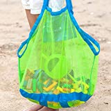 Oumers Large Portable Beach Mesh Toys Tote Bag with Kids Beach Mesh Bag |Sturdy Sand Backpack for Collecting Children Toys, Clothes, Groceries On The Beach Pool Boat |Foldable, Lightweight