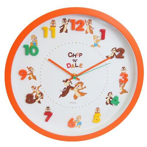 ディズニー 壁掛け時計 アイコンウォールクロック アナログ表示 連続秒針 チップ & デール 736218