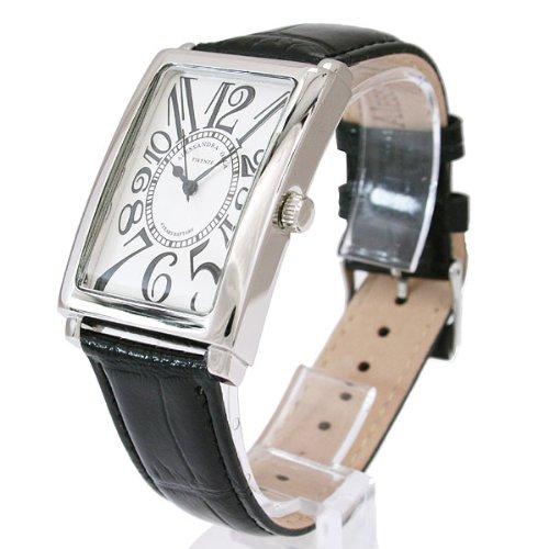 [アレサンドラオーラ]Alessandra Olla 腕時計 レクタンギュラー ホワイトブラック AO-4500-WHBK メンズ