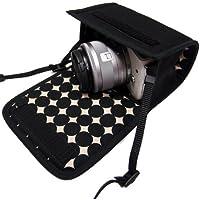 カメラケース ミラーレス キヤノンEOS M100 /EOS M10ケース(ブラック・マーブルドット)-suono(スオーノ)ハンドメイド
