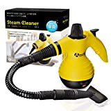 Ancii 強力洗浄タイプ スチームクリーナー 約130℃の高圧蒸気 多目的使用の掃除に セーフティロック スタートキット付き 水垢油汚れなどに ST-1 (イエロー)