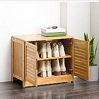 シューズラック 廊下リビングルームホテルのために靴ラックベンチ靴収納オーガナイザーシートウッドトップメタルフレーム 玄関収納 省スペース (色 : Natural, サイズ : 33x46x63cm)