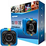 Mini Wireless Camera Cop Cam - Action Cameras for Indoor or Outdoor, Home Office or Car Video Recorder with 1080p HD Recording and Night Vision - 1 Cubic Inch