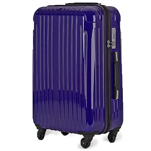 strike(ストライク)超軽量 2年保証 スーツケース TSAロック搭載 旅行バック トランクケース 旅行カバン (パープルネイビー, 小型Sサイズ(1-3泊))