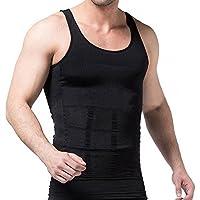 MISS MOLY Men's Slim Body Shaper Vests Shirt Abs Abdomen Slimming Shirt