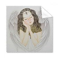 White Wing Pretty Girl チャイニーズペインティングメガネクロス クリーニングクロス ギフト 電話スクリーンクリーナー 5個