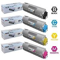 LD テつゥ Compatible Okidata C6150 / MC560 Set of 4 High Yield Laser Toner Cartridges: 1 Black 43865720, 1 Cyan 43865719, 1 Magenta 43865718, 1 Yellow 43865717 by LD Products
