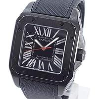 [カルティエ]Cartier 腕時計 サントス100LM 中古[1337656] ブラック 付属:国際保証書 ボックス