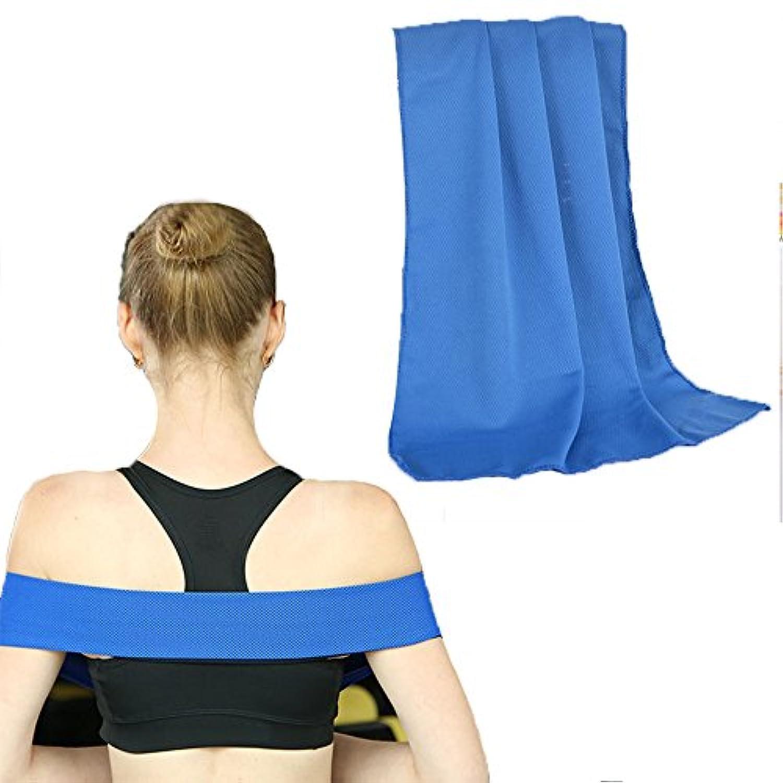Zafina 冷却タオル 瞬冷 クールコアタオル 熱中症対策 超吸水 軽量 スポーツアイスタオル 1枚セット