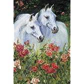 1000ピース 白馬と薔薇 61-286
