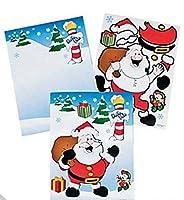 Christmas Santa Claus Sticker Sets - One Dozen by Fun Express