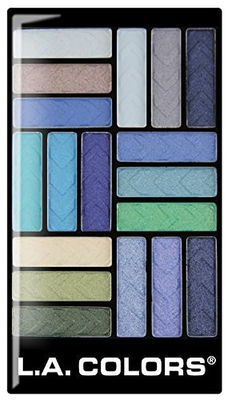 マット郊外キャップL.A. COLORS 18 Color Eyeshadow - Shady Lady (並行輸入品)
