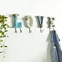 接着剤フック壁掛け木製の手紙のクローキングラックタオルラックホームアクセサリー,LOVE