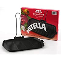Ilsa V174 Dietella Cast Iron 9-Inch x 14.5-Inch Rectangular Grill by Ilsa