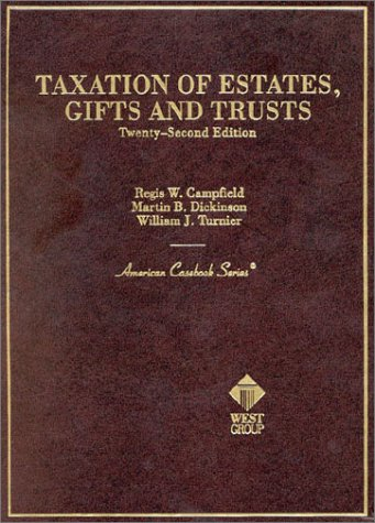 Download Taxation of Estates, Gifts and Trusts (American Casebook Series and Other Coursebooks) 0314259961