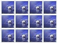 Edmond Hogge Jr Rainbows–ケイマン島Rainbow On The CarnivalクルーズInsperation–グリーティングカード Set of 12 Greeting Cards