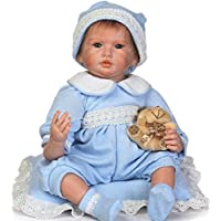 22インチソフトシリコンRebornベビー人形Lifelike Girl Dolls Happy Baby Girl Toy