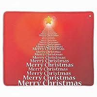 ゲーム用マウスパッド テーブルマット 厚さ3mmのゴム製 メリークリスマス 滑り止め ラップトップ