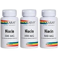 SOLARAY(ソラレー), Niacin(ナイアシン - ビタミンB3) 500 MG 100カプセル(3個セット) [海外直送品] [並行輸入品]