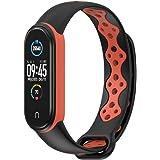 【Amazon限定ブランド】XIHAMA For Xiaomi Miband6 / Miband 6 NFC / Miband5 / Miband5 NFC バンド 腕時計 シリコン製 軽量 通気設計 ツートンカラー 交換ベルト シャオミ5 シャオミ