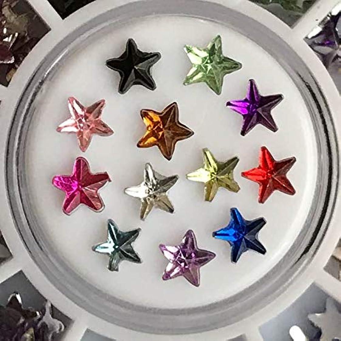 スカイセグメントびっくりしたアクリルラインストーン12色セットネイル用DIYアクセサリーハンドメイド素材パーツ (スター星型)