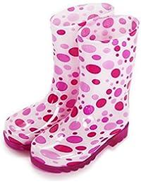 [ケーズプラス] K's PLUS 歩くたびに光る LEDLED内蔵ソール キッズレインブーツ Lighting Rain Boots 長靴・kp_18004(ピンクorブルー 16cm~21cm)