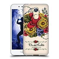 Official Frida Kahlo ヴァイン レッド・フローラル ソフトジェルケース Huawei Honor 6A