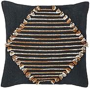 Amalfi Danika Cushion Danika Bohemian Throw Cushion Pillow, Navy/Terracotta