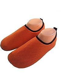 InitialG【イニシャルジー】アクアシューズ ウォーターシューズ メンズ レディース メッシュ アウトドア靴 マリン 水陸両用 海 ビーチ 006-mll-wb001(3XL(27-27.5cm) オレンジ )