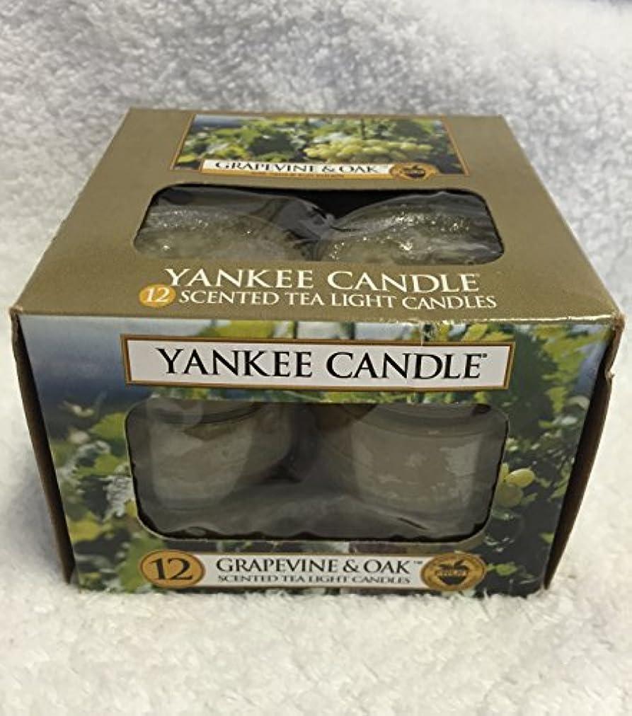 違反顎伝染性Yankee Candle Grapevine & Oak & $ 153 ;、ワイン香り Scented Tea Lights 1221474-YC
