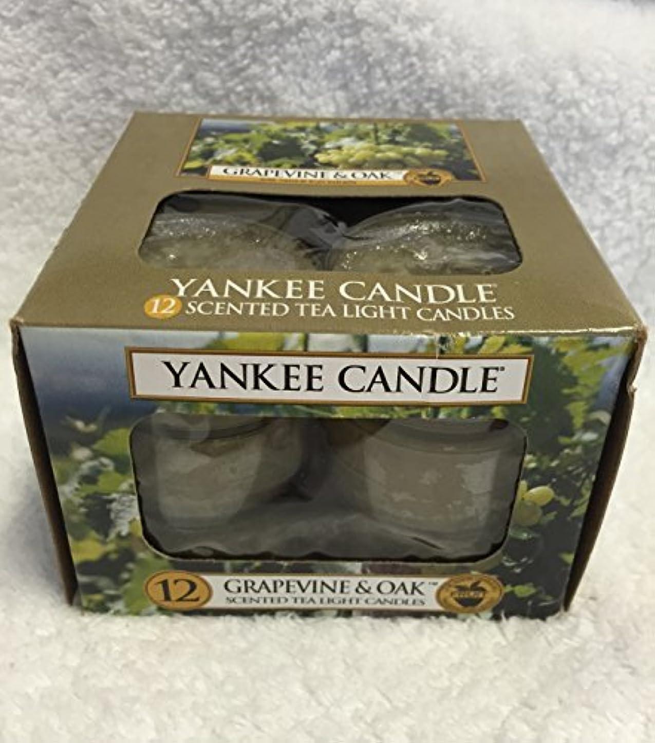 前提条件組立コートYankee Candle Grapevine & Oak & $ 153 ;、ワイン香り Scented Tea Lights 1221474-YC