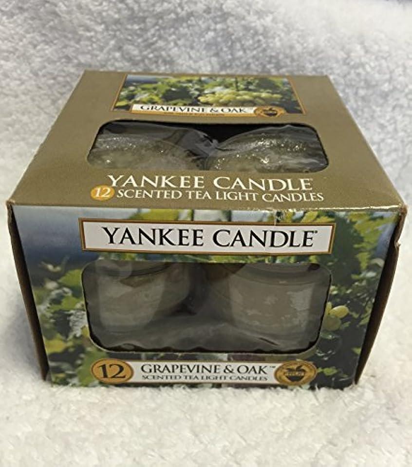これらバトルたるみYankee Candle Grapevine & Oak & $ 153 ;、ワイン香り Scented Tea Lights 1221474-YC