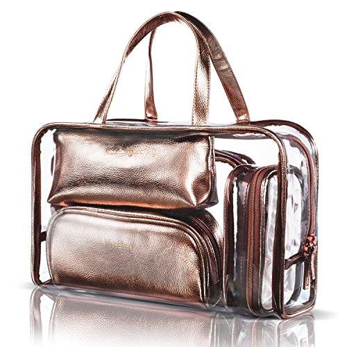 NiceEbag 透明バック、ビニールバッグ、化粧品バッグ、...