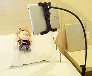 [Lupi Lupi] タブレット スタンド フレキシブル アーム スタンド iPad air ipad 1 2 3 4 Mini ギャラクシー GalaxyTAB Kindle DX Nexus7 Motorola Xoom PCホルダー 卓上 車載 ベッド などで 便利 に使用出来る!!ブラック