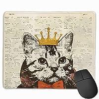 クラウン猫 マウスパッド 25×30 大判 ノンスリップ 防水 ゲーミング おしゃれ マウスの精密度を上がる