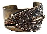 レアなナバホ族真鍮(しんちゅう)のバングル/シャープなイーグル/ハンドメイドインディアンジュエリー