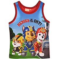 Kids Marvel Spiderman and Nickelodeon Paw Patrol Sleeveless Vests Top T-Shirt Summer Wear Ages 3-8 Years