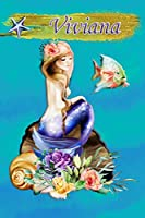 Heavenly Mermaid Viviana: Wide Ruled | Composition Book | Diary | Lined Journal