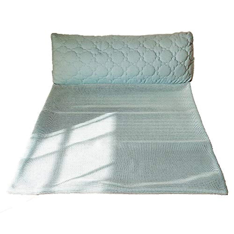 西川リビング 抱き枕 ブルー 100X75X25cm SuuGoo ごろごろ 寝相の悪さ ブロック 2433-10422