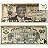 [ドナルドトランプマネー]Donald Trump Money Set of 5 Donald Trump Pence Make America Great Again Novelty 2016 [並行輸入品]